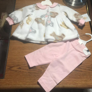 Carters 2 pc fleece outfit girls 0-3M NWT